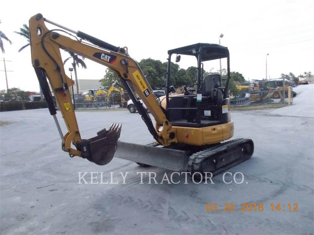 Caterpillar 303.5E2CR、クローラー式油圧ショベル(パワーショベル・ユンボ)、建設