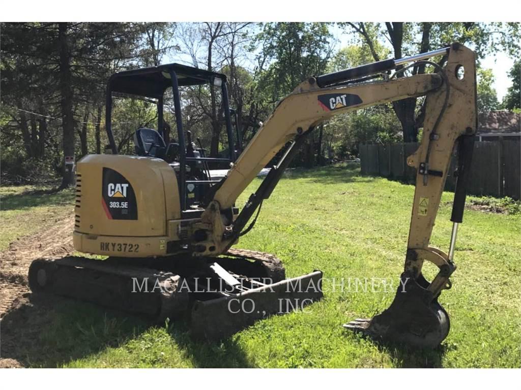 Caterpillar 303.5ECR, Excavatoare pe senile, Constructii