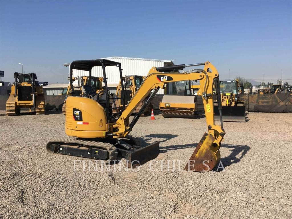 Caterpillar 303ECR、履带挖掘机、建筑设备