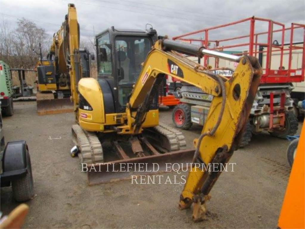 Caterpillar 304DCR、クローラー式油圧ショベル(パワーショベル・ユンボ)、建設