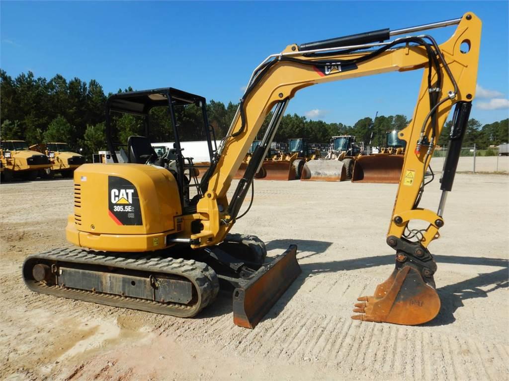 Caterpillar 305.5 E2 CR、履带挖掘机、建筑设备