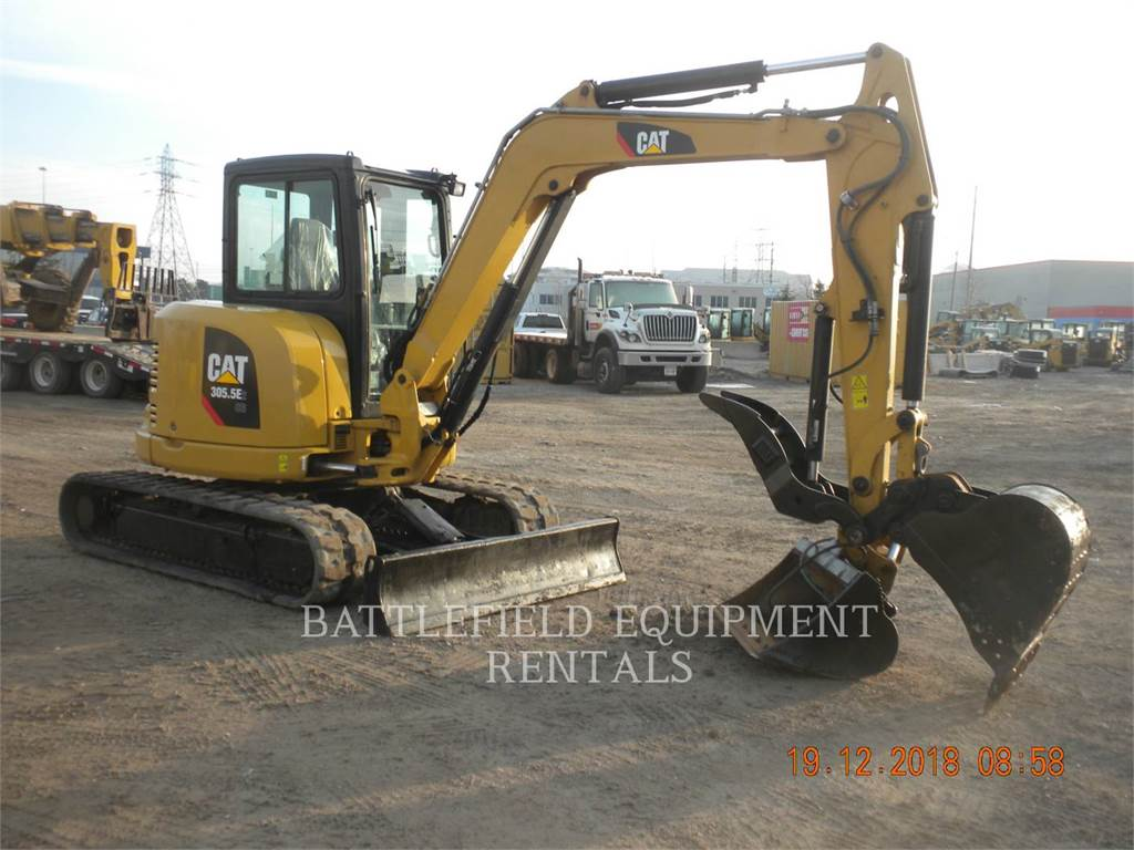 Caterpillar 305.5E, Crawler Excavators, Construction