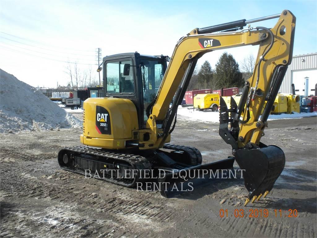 Caterpillar 305E2 CR、クローラー式油圧ショベル(パワーショベル・ユンボ)、建設