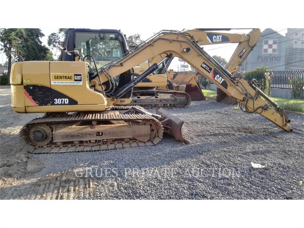Caterpillar 307D、クローラー式油圧ショベル(パワーショベル・ユンボ)、建設