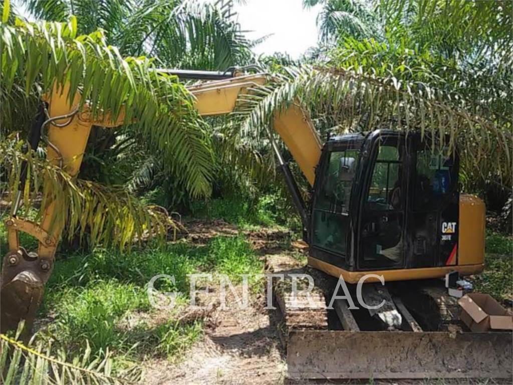 Caterpillar 307E, Excavadoras de cadenas, Construcción