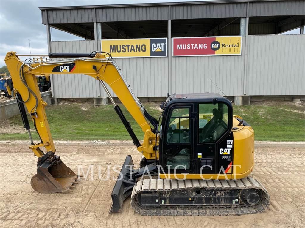 Caterpillar 308E2、滑移装载机、建筑设备