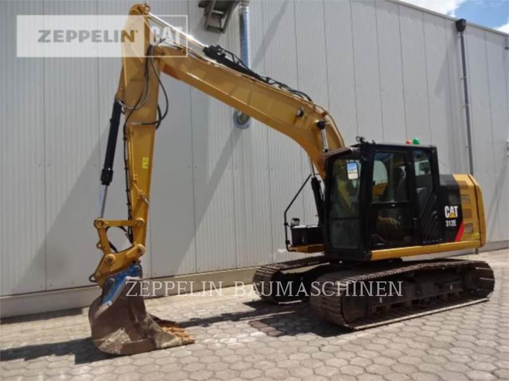 Caterpillar 312EL、履带挖掘机、建筑设备