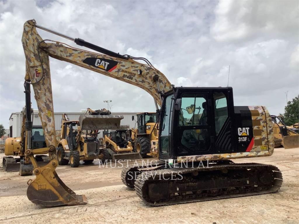 Caterpillar 313, Excavadoras de cadenas, Construcción