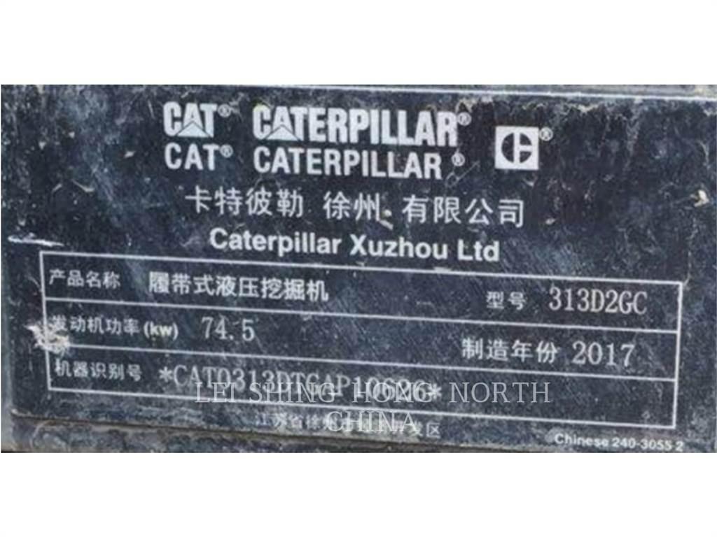 Caterpillar 313D2GC, Rupsgraafmachines, Bouw