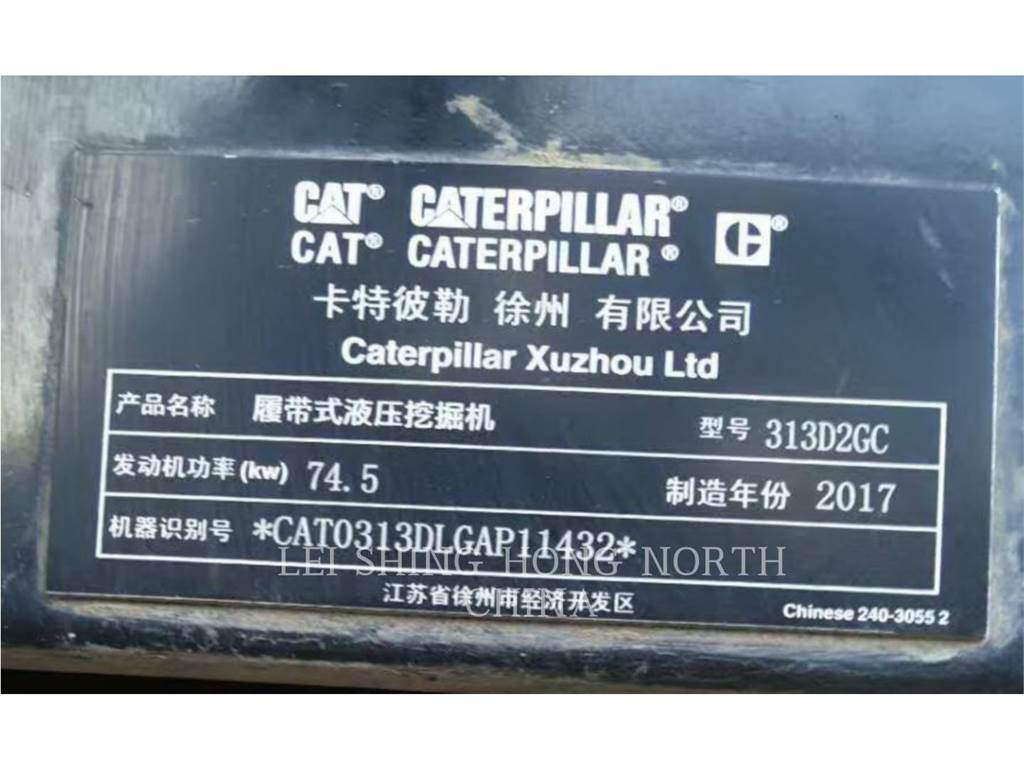 Caterpillar 313D2GC, Crawler Excavators, Construction