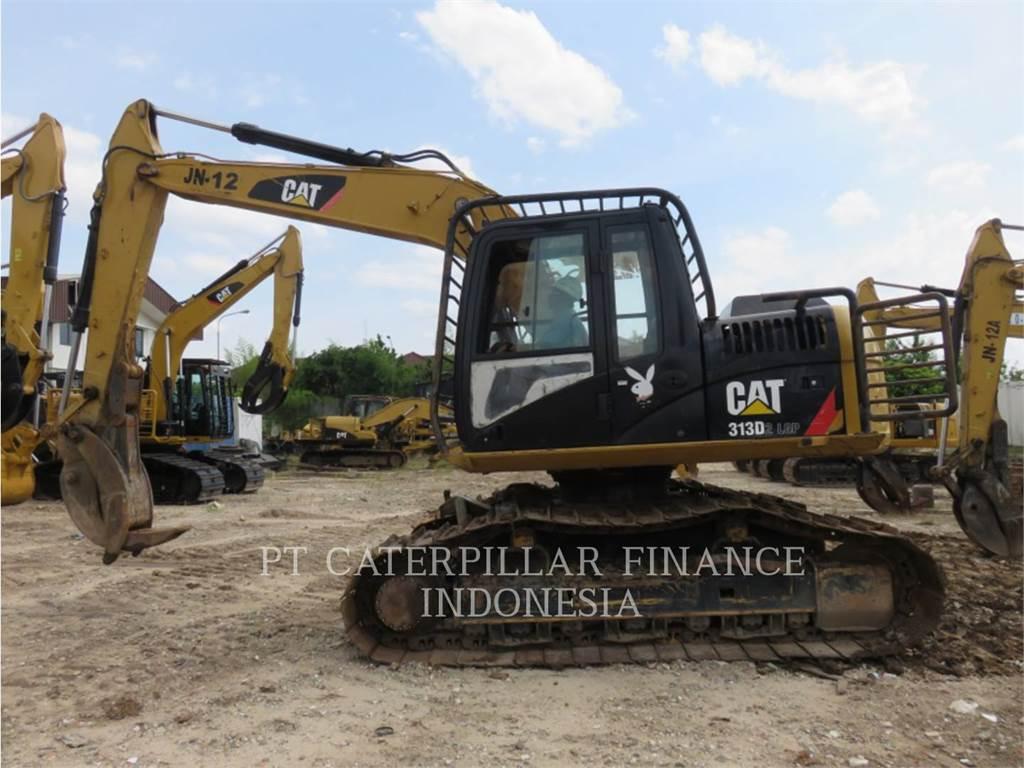Caterpillar 313D2LGP、クローラー式油圧ショベル(パワーショベル・ユンボ)、建設