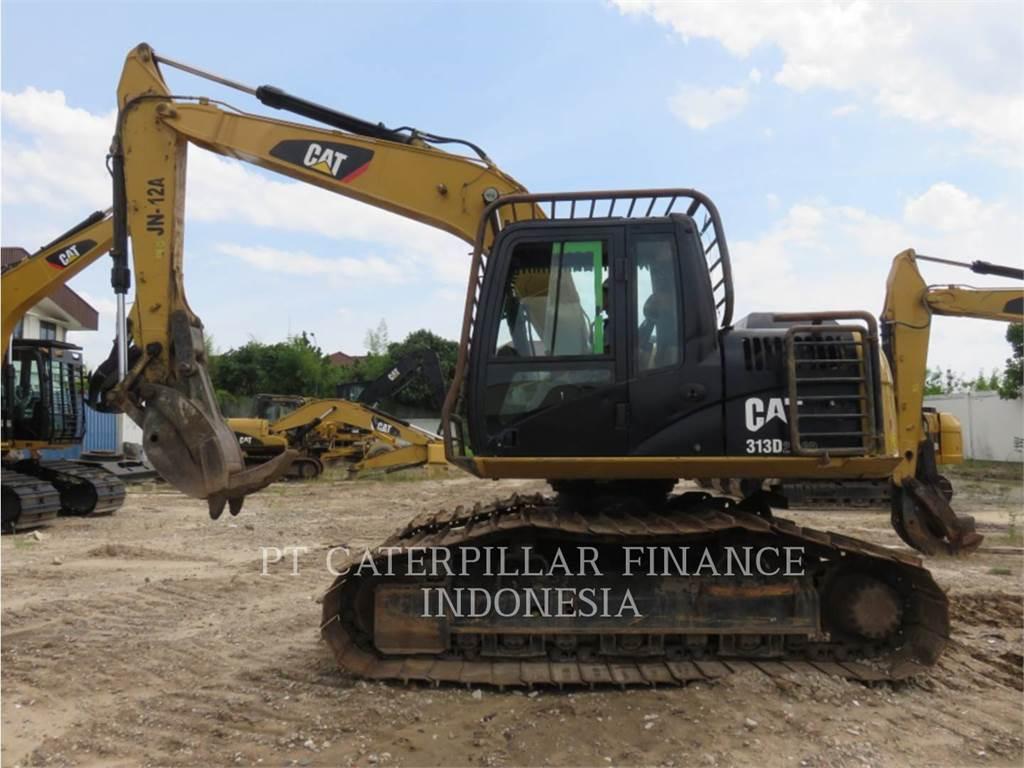 Caterpillar 313D2LGP, Excavatoare pe senile, Constructii