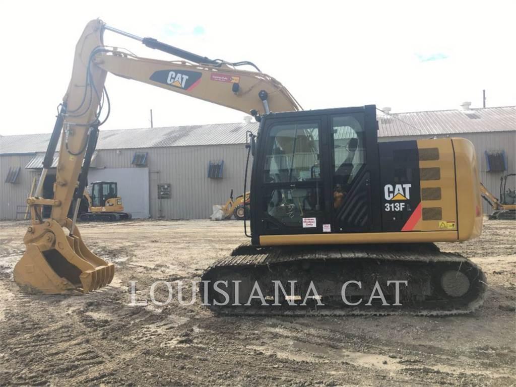 Caterpillar 313FL, Escavadoras de rastos, Equipamentos Construção