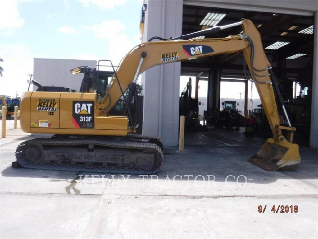 Caterpillar 313FLGC, Excavatoare pe senile, Constructii