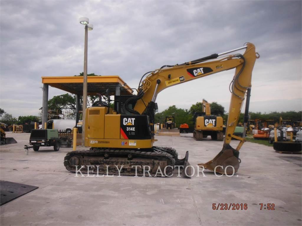 Caterpillar 314ELCR、クローラー式油圧ショベル(パワーショベル・ユンボ)、建設