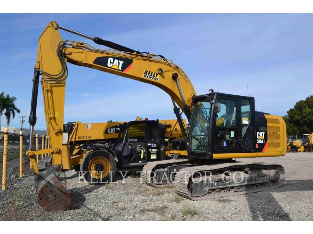 Caterpillar 316 E, Excavatoare pe senile, Constructii