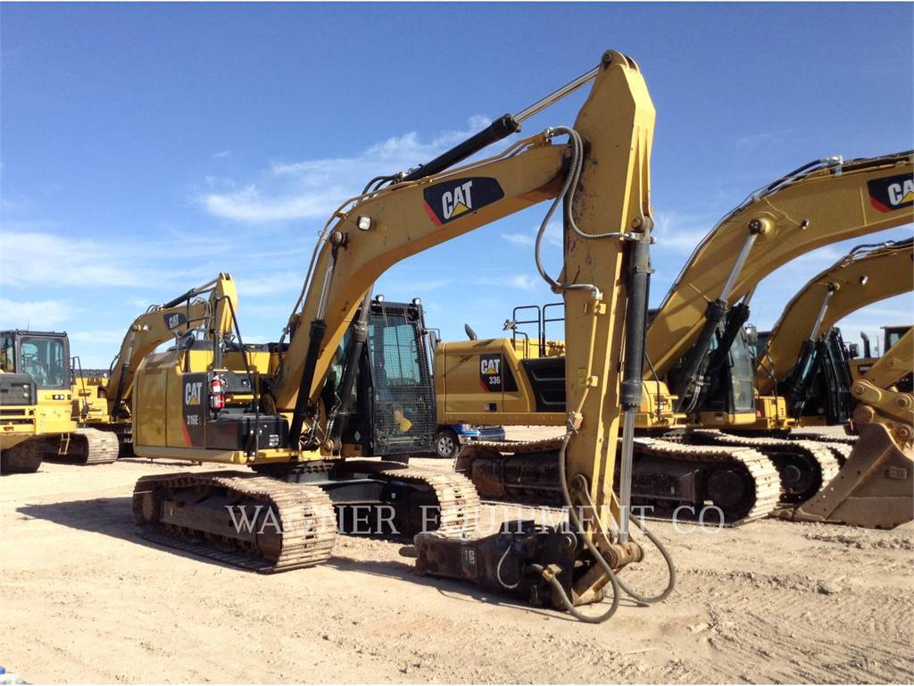 Caterpillar 316EL, Excavatoare pe senile, Constructii