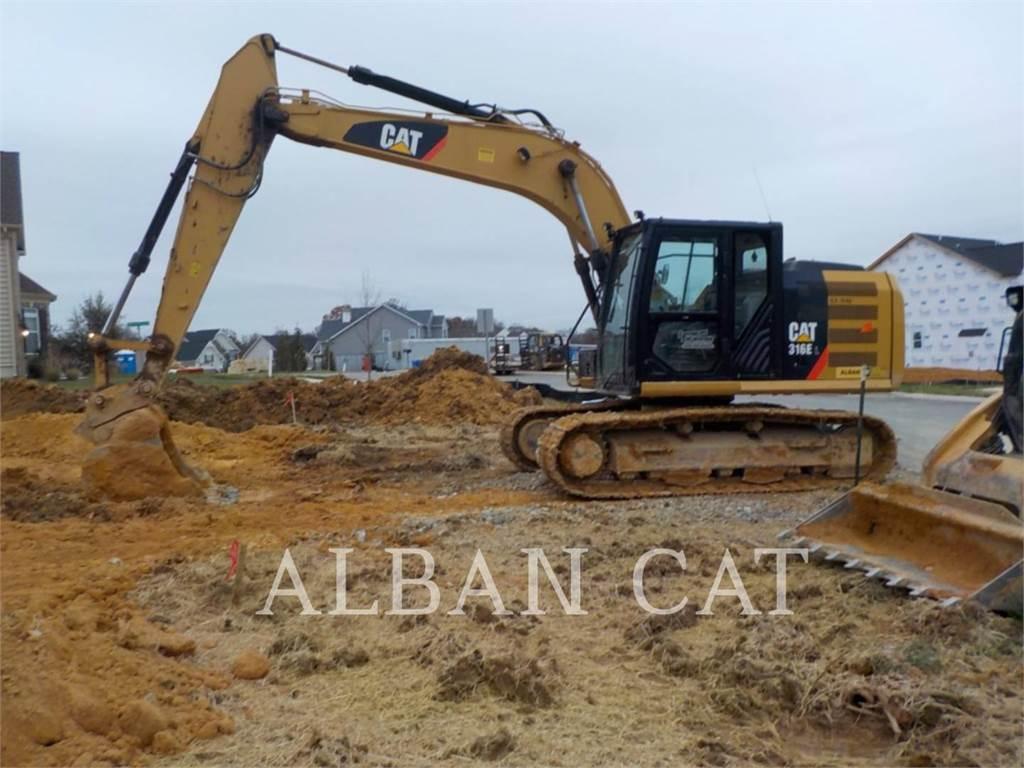 Caterpillar 316EL、履带挖掘机、建筑设备