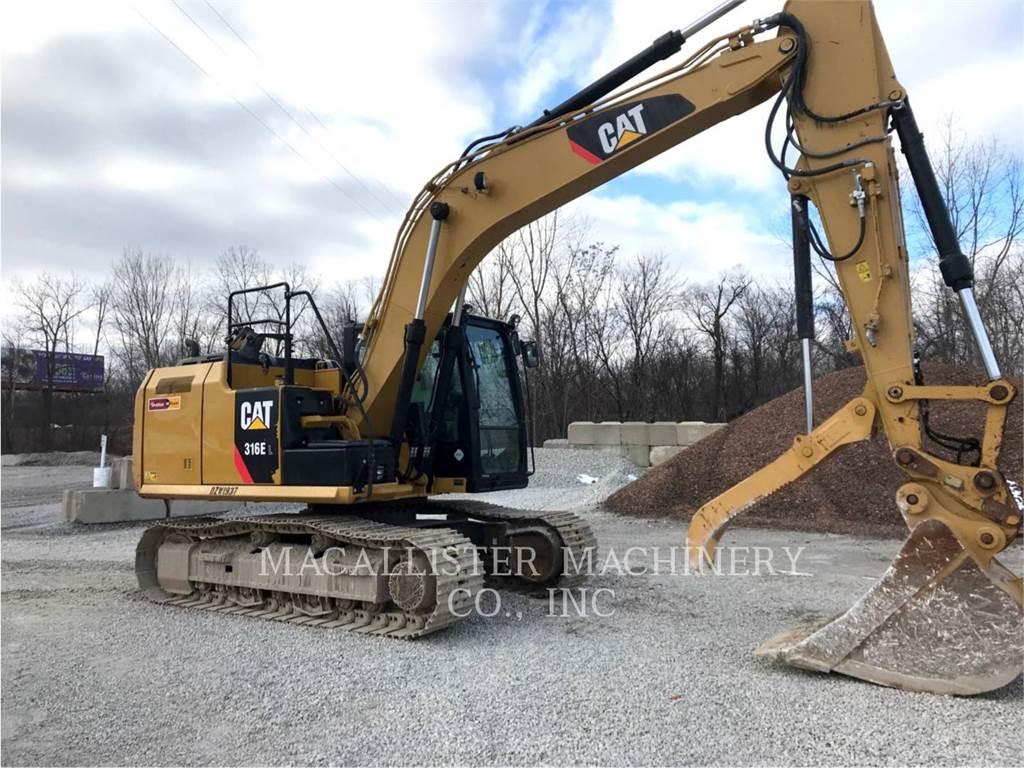 Caterpillar 316EL、クローラー式油圧ショベル(パワーショベル・ユンボ)、建設