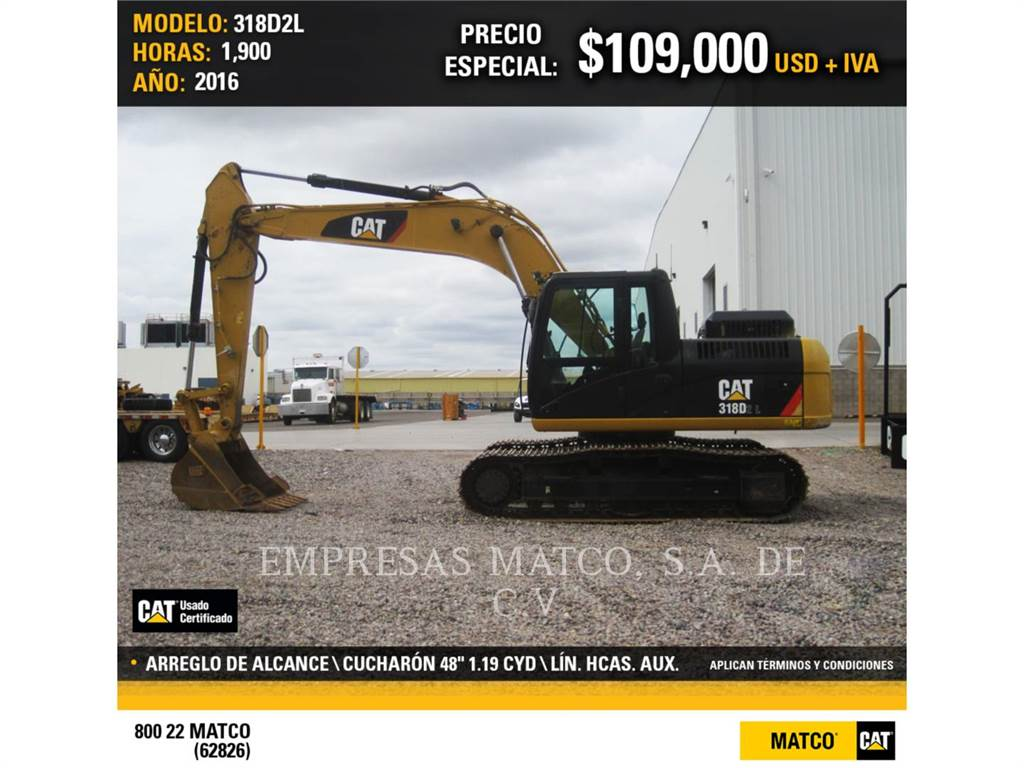 Caterpillar 318D2L, Crawler Excavators, Construction