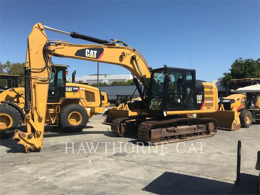 Caterpillar 318E, Crawler Excavators, Construction