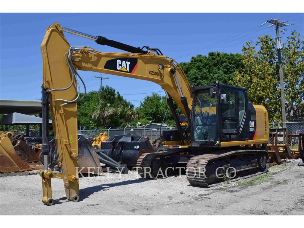 Caterpillar 318EL、履带挖掘机、建筑设备