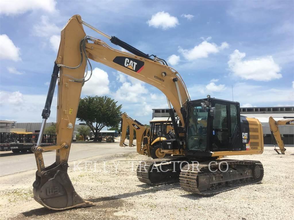 Caterpillar 318EL, Excavadoras de cadenas, Construcción