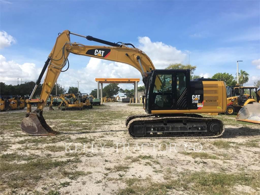Caterpillar 318EL, Escavadoras de rastos, Equipamentos Construção