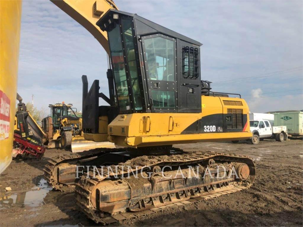 Caterpillar 320DFMHW、挖坑机、林业机械