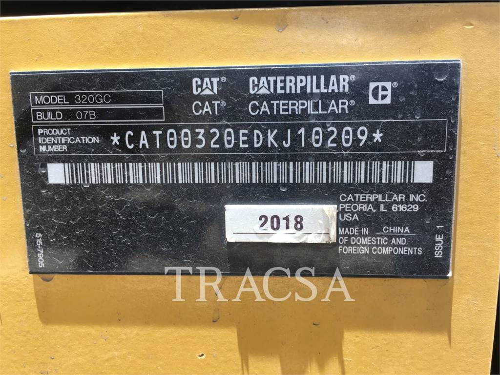 Caterpillar 320GC NG, Crawler Excavators, Construction