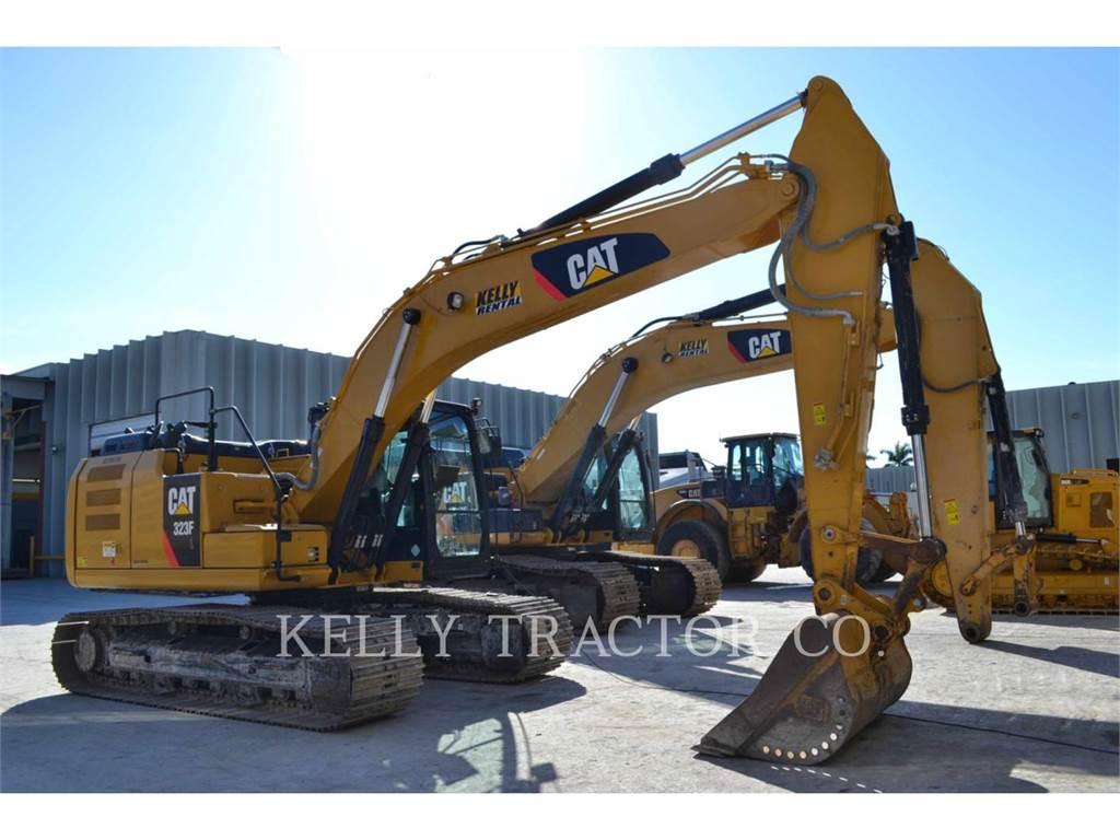 Caterpillar 323FL、クローラー式油圧ショベル(パワーショベル・ユンボ)、建設