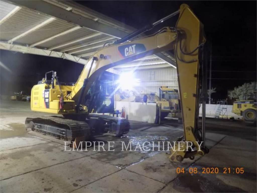 Caterpillar 323FL, Excavatoare pe senile, Constructii