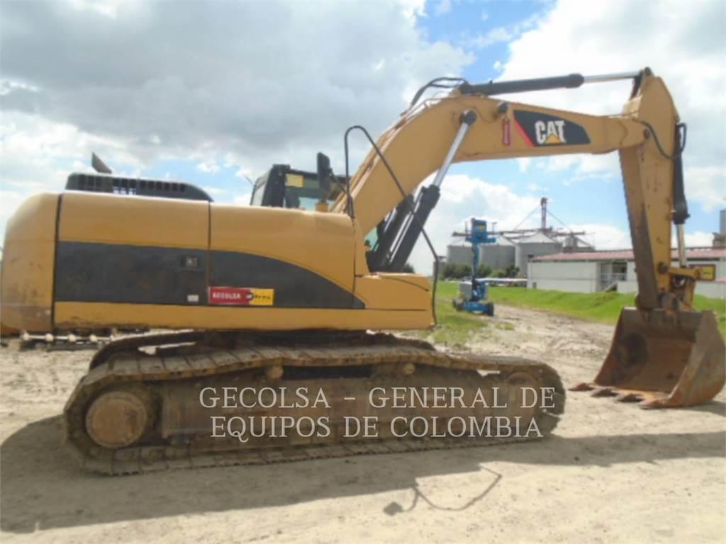 Caterpillar 324DL, Excavatoare pe senile, Constructii