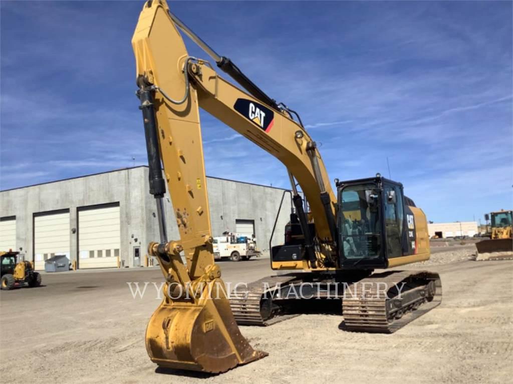 Caterpillar 324EL, Excavatoare pe senile, Constructii