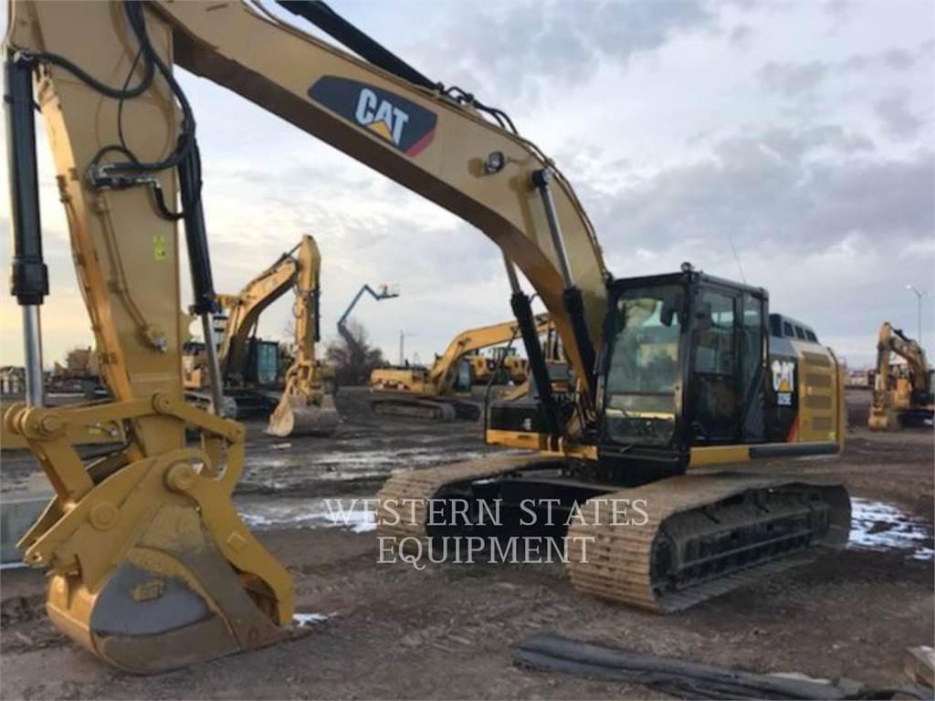 Caterpillar 329 E L、クローラー式油圧ショベル(パワーショベル・ユンボ)、建設