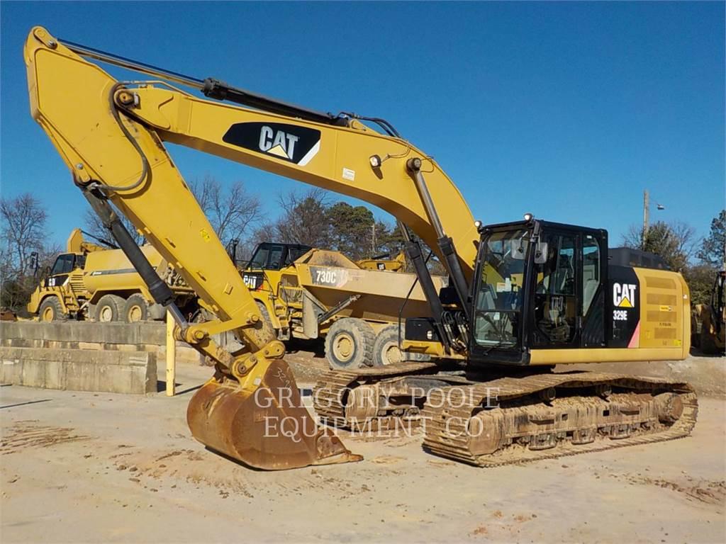 Caterpillar 329EL, Excavatoare pe senile, Constructii