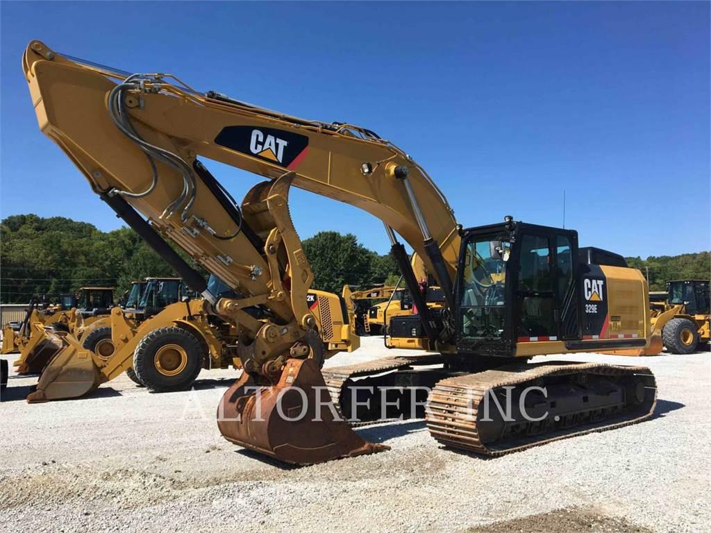 Caterpillar 329EL, Excavadoras de cadenas, Construcción