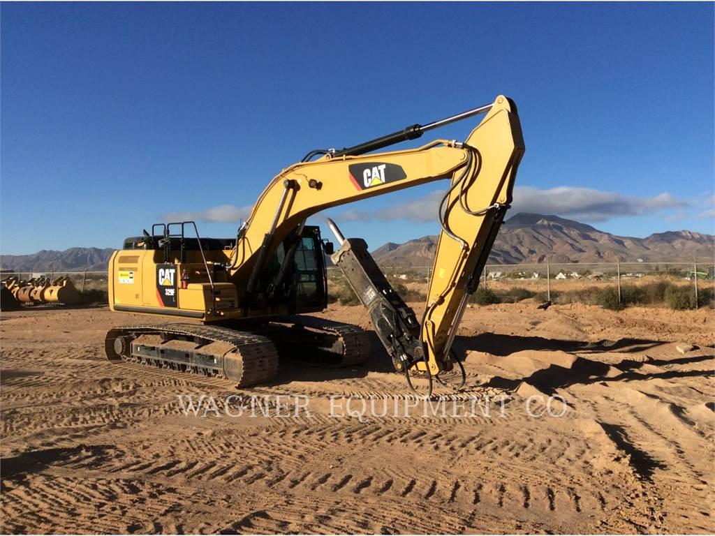 Caterpillar 329FL、クローラー式油圧ショベル(パワーショベル・ユンボ)、建設