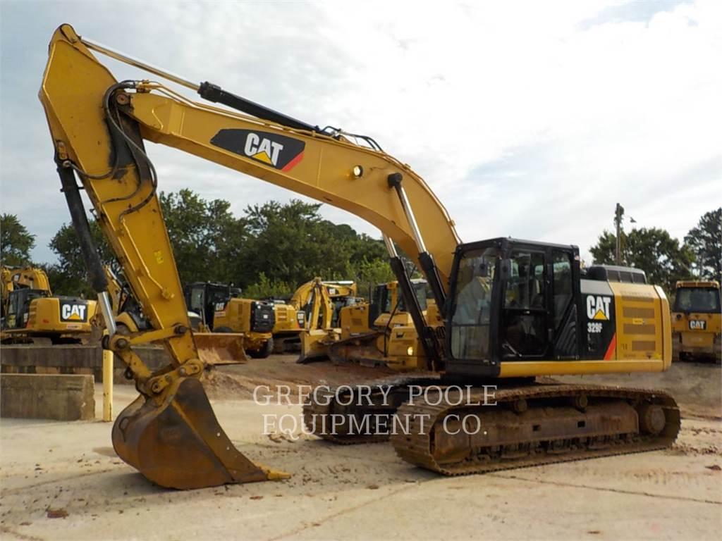 Caterpillar 329FL, Pelle sur chenilles, Équipement De Construction