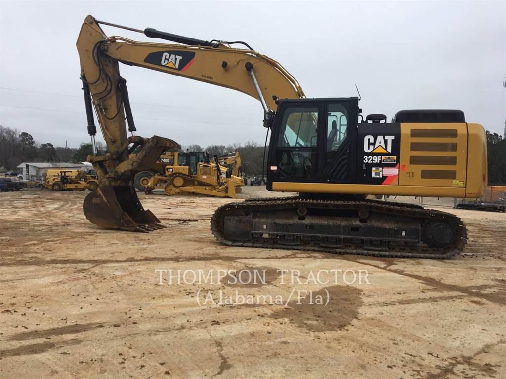 Caterpillar 329FL, Excavadoras de cadenas, Construcción