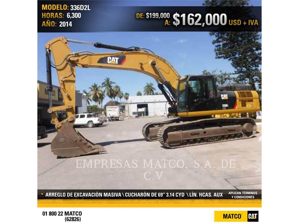 Caterpillar 336D2L, Escavadoras de rastos, Equipamentos Construção