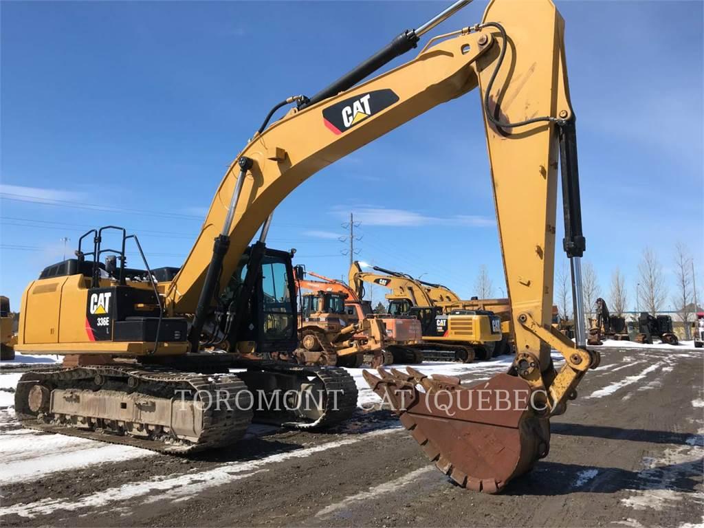 Caterpillar 336EL、クローラー式油圧ショベル(パワーショベル・ユンボ)、建設