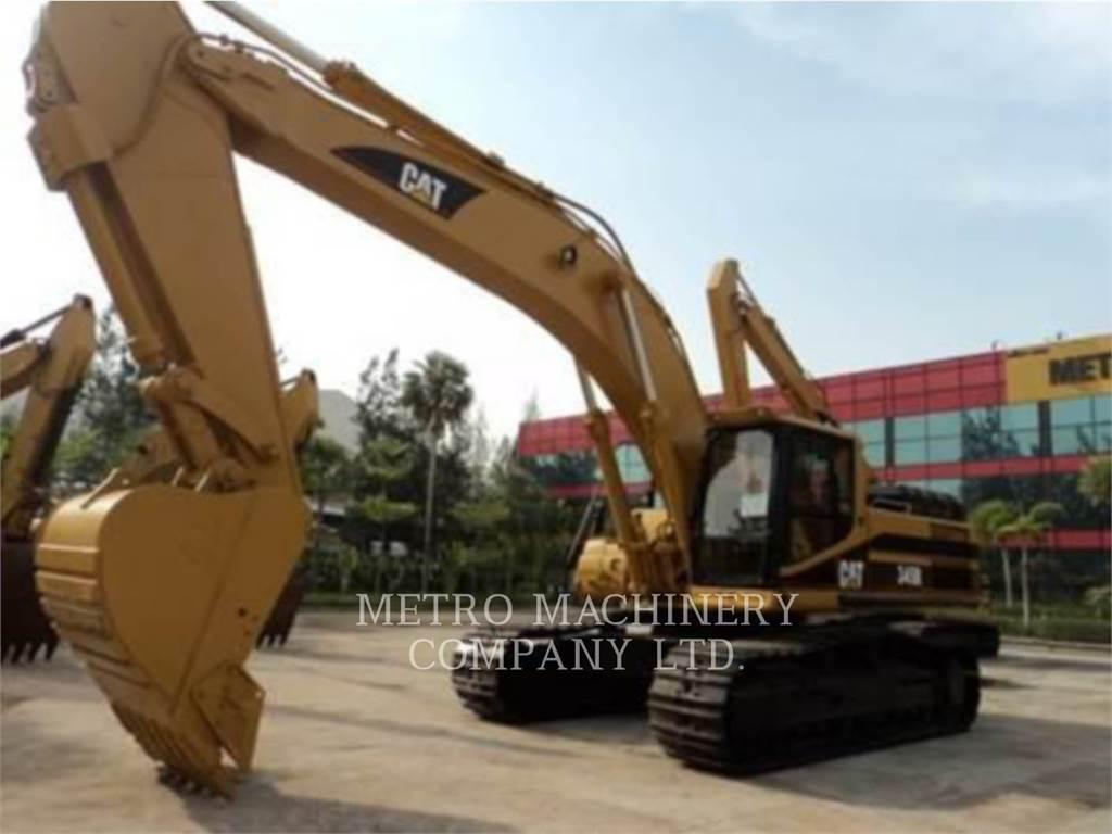 Caterpillar 345B, Crawler Excavators, Construction
