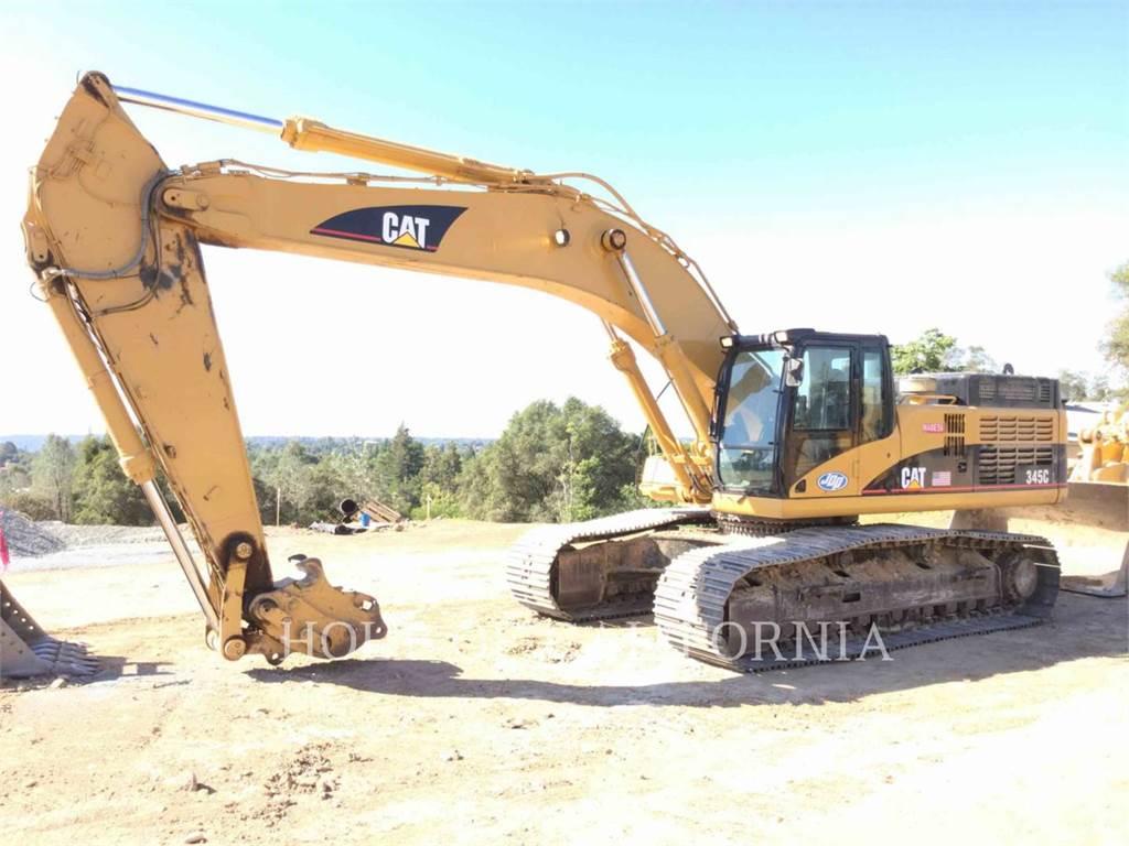 Caterpillar 345CL、クローラー式油圧ショベル(パワーショベル・ユンボ)、建設
