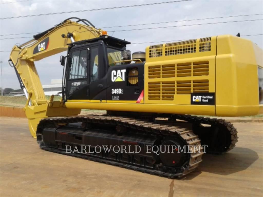 Caterpillar 349D2L, Escavadoras de rastos, Equipamentos Construção