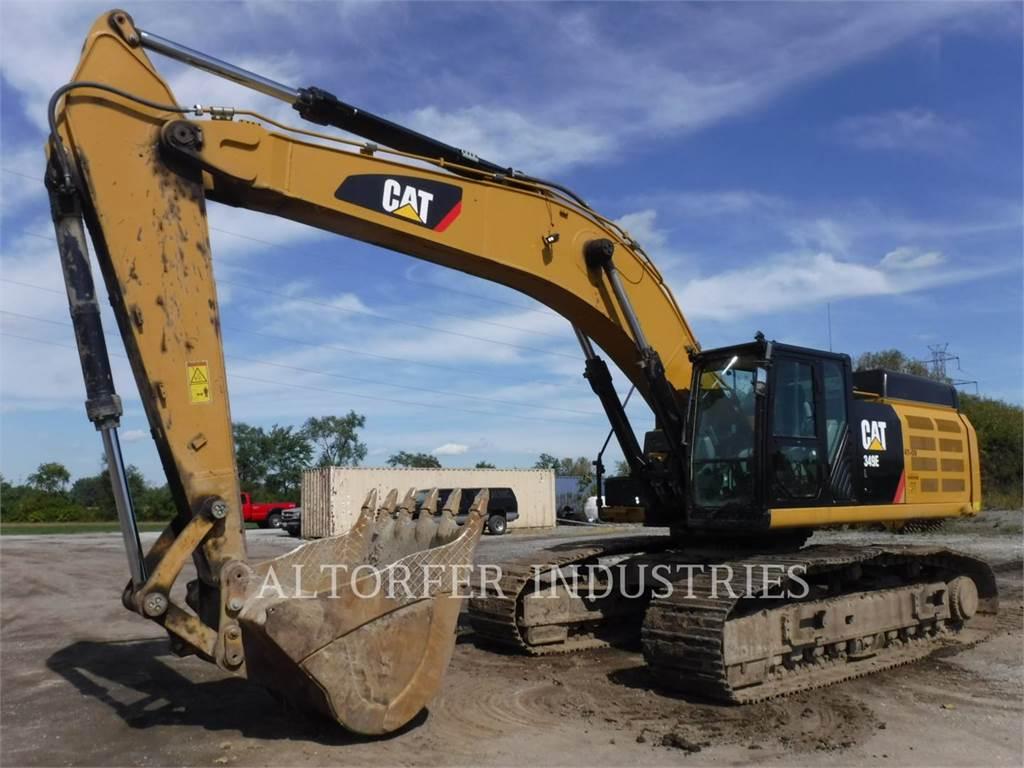 Caterpillar 349E VG, Excavadoras de cadenas, Construcción