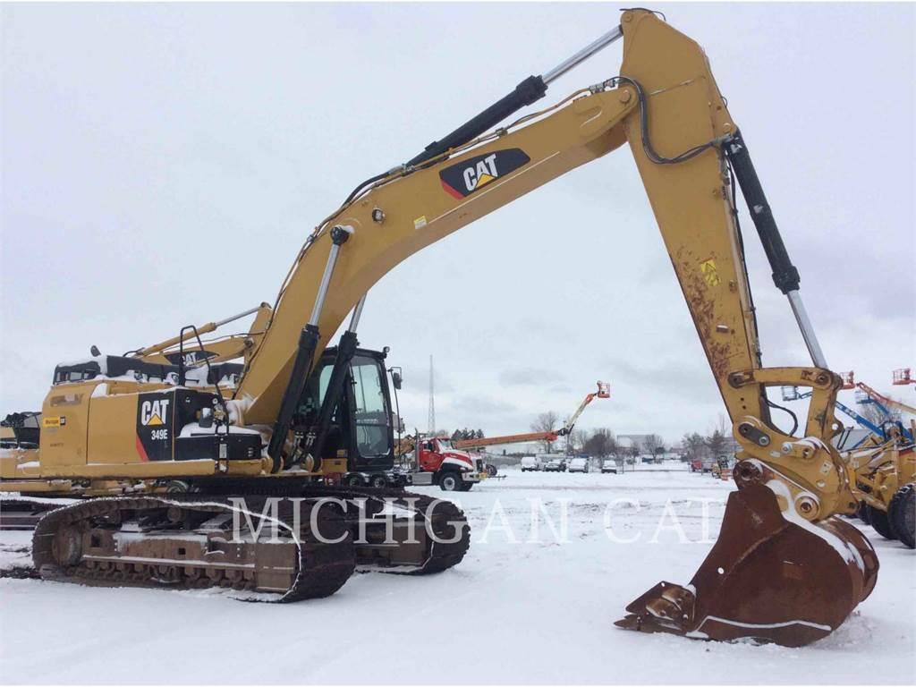 Caterpillar 349ELVG、クローラー式油圧ショベル(パワーショベル・ユンボ)、建設