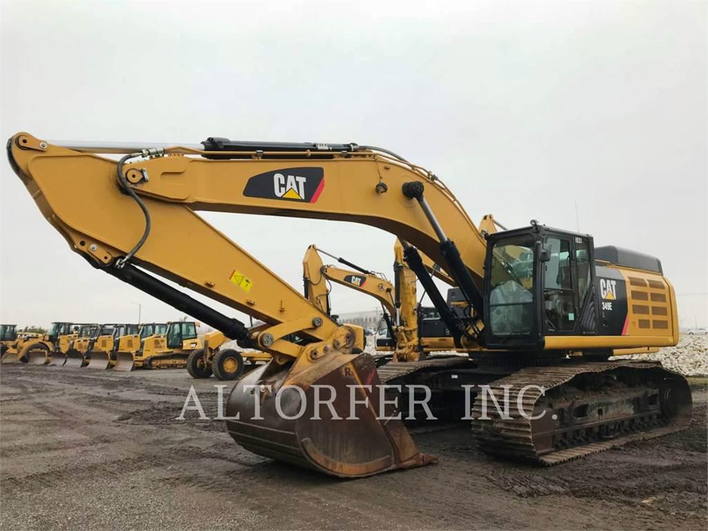 Caterpillar 349ELVG, Excavatoare pe senile, Constructii