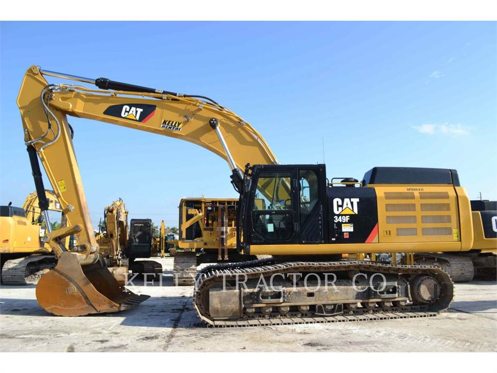 Caterpillar 349FL、クローラー式油圧ショベル(パワーショベル・ユンボ)、建設