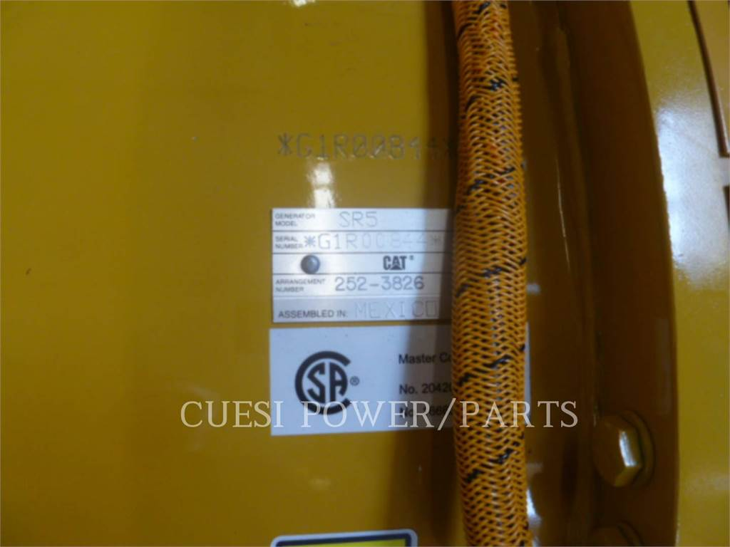 Caterpillar 3512B, Stationary Generator Sets, Construction